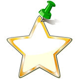 Paper Star With Pushpin Stock Photos