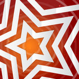 Paper star on the yellow power background. Vector Royalty Free Stock Photography