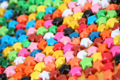 Paper stars. Close up of paper stars Royalty Free Stock Photo