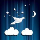 Paper stars bird Stock Photography