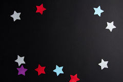 Paper stars of different colors Royalty Free Stock Images