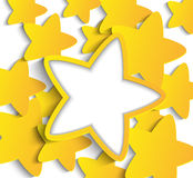 Paper stars Stock Photography