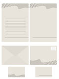 Paper stationery series for of stock illustration
