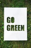 "Paper stencil ""go green"" Stock Photography"