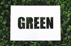 "Paper stencil ""green"" Stock Photography"