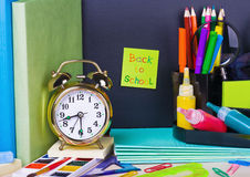 Paper sticker on the blackboard Royalty Free Stock Images