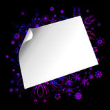 Paper sticker on colorful background. Vector of white paper on colorful background Stock Photo