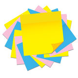 Paper sticker,  illustration Royalty Free Stock Image
