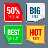 Paper sticker Royalty Free Stock Images