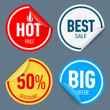 Paper sticker Royalty Free Stock Photo