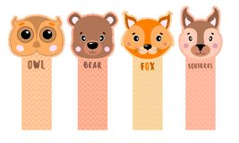 Paper sticker tape are peeled from the corner with animals for children. vector illustration