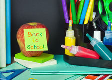 Paper sticker with text back to school Royalty Free Stock Photography