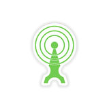 paper sticker on white background Wi fi tower Stock Image