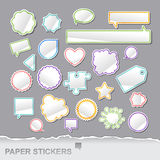 Paper stickers Royalty Free Stock Image