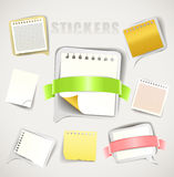 Paper stickers Royalty Free Stock Photos
