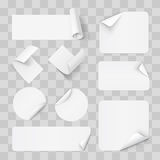 Paper Stickers Stock Photos