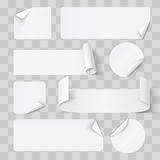 Paper Stickers Royalty Free Stock Images