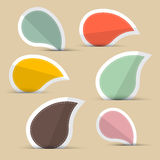 Paper Stickers - Labels. In Retro Color Design Royalty Free Stock Photo