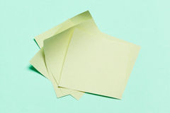 Paper stickers for the notes Stock Images