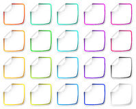 Paper stickers set Stock Photo