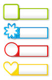 Paper stickers. Vector colorful paper stickers on white background, eps10 file, gradient mesh and transparency used Royalty Free Stock Image