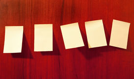 Paper sticky notes on wall Stock Photography