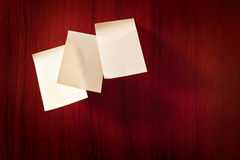 Paper sticky notes on wall Stock Image