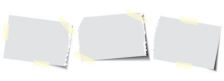 Paper with sticky tape Royalty Free Stock Photos