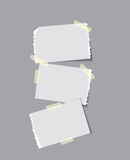 Paper with sticky tape Royalty Free Stock Photo