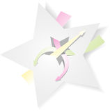Paper stjärna vektor illustrationer