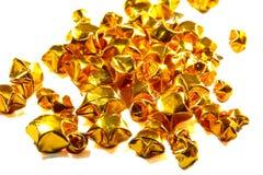 paper stjärna för guld Arkivfoton