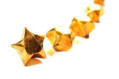 paper stjärna för guld Arkivbild