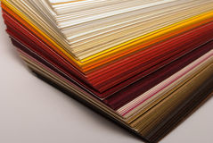 Paper stock. In warm tones Stock Image