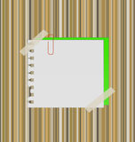 Paper on a straw background. Vector illustratuion Stock Image