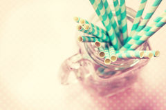 Paper Straws Cocktail Stock Images