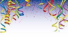 Paper streamer. Multicolored paper streamer and confetti Stock Photo