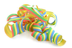 Paper streamer. On bright background Royalty Free Stock Photography