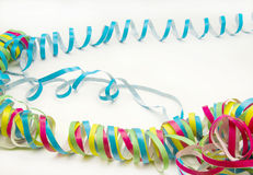 Paper streamers in different color Stock Images