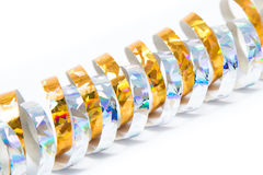 Paper streamers. On white background Royalty Free Stock Photo