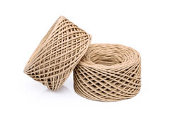 Paper string. Roll of paper string on white background Stock Image