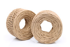 Paper string. Thread made of paper on white background Stock Images