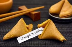 Free Paper Strip With Phrase Change Is Coming From Fortune Cookie Stock Image - 107181711