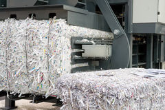 Paper strips. In a shredding machine Royalty Free Stock Photos