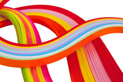 Paper strips in bright colors Stock Photos