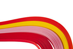 Paper strips in bright colors Royalty Free Stock Photography