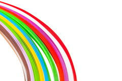 Paper strips in bright colors Royalty Free Stock Images