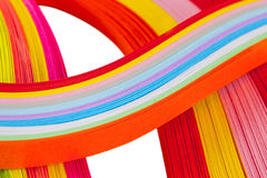 Paper strips in bright colors Stock Photography