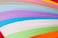 Paper strips in bright colors Royalty Free Stock Photos