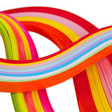 Paper strips in bright colors Stock Photo