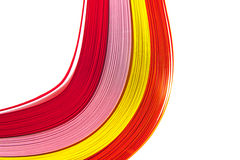 Paper strips in bright colors Stock Images